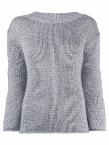 Forte Forte metallic slim-fit jumper - Grey