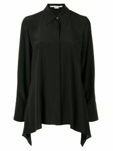 Stella McCartney draped long-sleeve shirt - Black