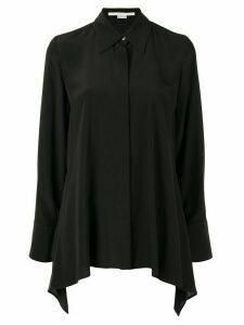 Stella McCartney draped long-sleeve shirt - Black