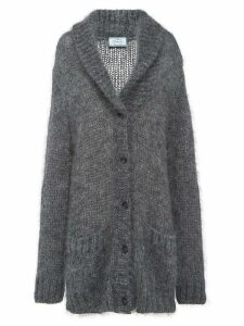 Prada shawl collar knitted cardigan - Grey