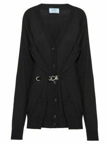 Prada front clasp cardigan - Black