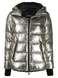 Herno zipped puffer jacket - SILVER