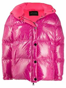 Goose Tech patent hooded padded jacket - PINK