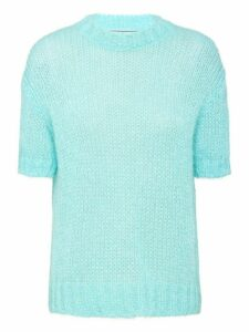 Prada mohair short-sleeved jumper - Blue