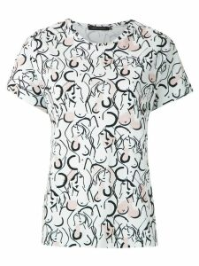 Andrea Marques printed batwings T-shirt - White