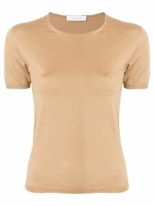 Cruciani short-sleeve fitted top - Brown