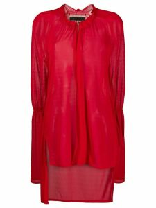 Roland Mouret ruffled neck blouse - Red