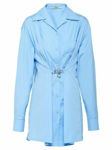 Prada hook-detail long shirt - Blue
