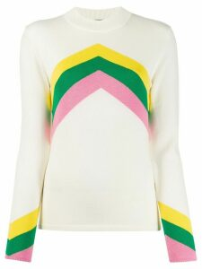 Perfect Moment chevron jumper - White