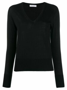 Majestic Filatures v-neck knitted sweater - Black