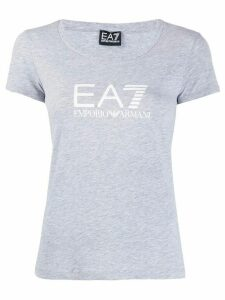Ea7 Emporio Armani fitted logo print T-shirt - Grey