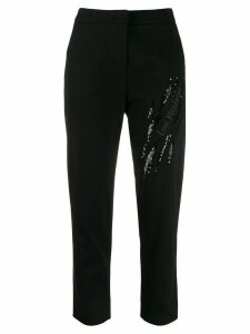 Love Moschino signature embellished trousers - Black
