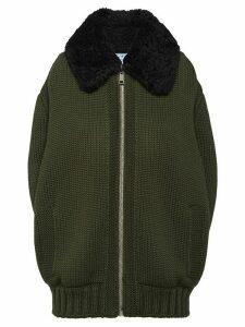 Prada Cordonnet yarn zipped cardigan - Green