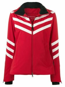 Perfect Moment chevron stripe jacket - Red