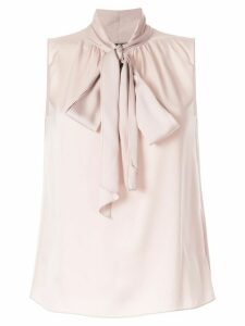 Theory pussy bow sleeveless blouse - PINK