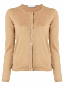 Cruciani long-sleeve fitted cardigan - Brown