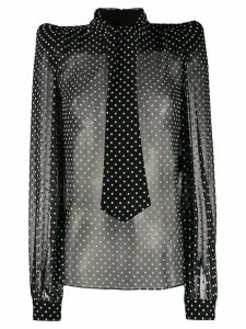 Saint Laurent polka dots blouse - Black