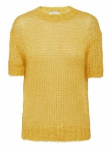 Prada sheer knitted top - Yellow