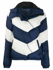 Perfect Moment chevron puffer jacket - Blue