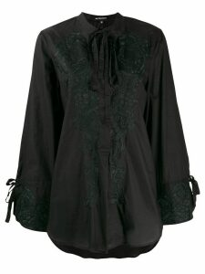 Ann Demeulemeester floral embroidered blouse - Black