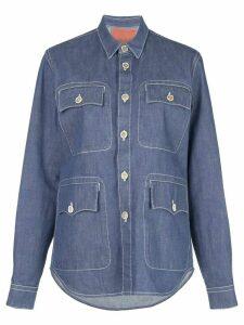 Marni utility pocket denim shirt - Blue