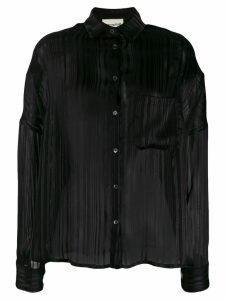 Semicouture striped-devoré shirt - Black