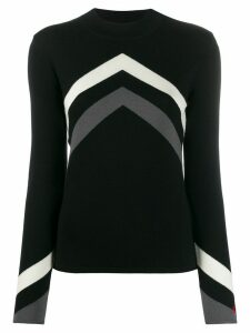 Perfect Moment chevron jumper - Black