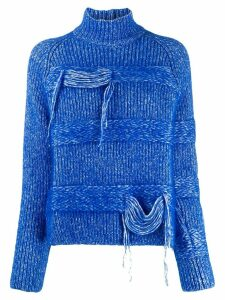 MRZ speckled knit turtleneck jumper - Blue