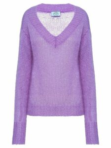 Prada V-neck knitted jumper - PURPLE