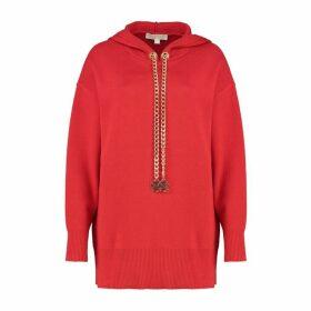 MICHAEL Michael Kors Logo Chain Stretch-cotton Hoodie
