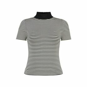MICHAEL Michael Kors Striped Short-sleeve Sweater
