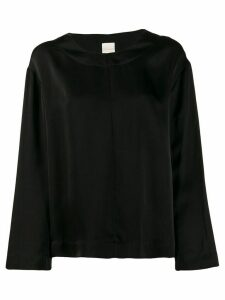Zanini loose-fit satin blouse - Black