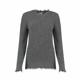 Michael Kors Collection Distressed Cashmere Sweater