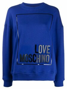 Love Moschino patent effect sweatshirt - Blue