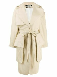 Jacquemus oversized pockets trench coat - NEUTRALS