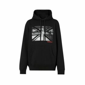 Burberry Union Jack Photo Print Cotton Hoodie