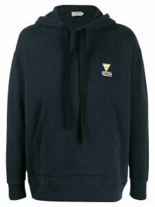 Maison Kitsuné chest logo hoodie - Blue