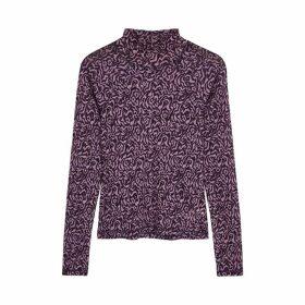 Nanushka Madi Purple Printed Stretch-knit Top