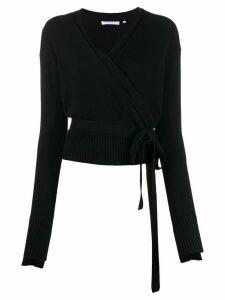 Helmut Lang cashmere wrap cardigan - Blue