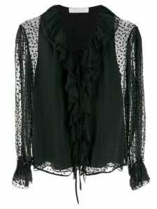 Chloé ruffled polka dot blouse - Black