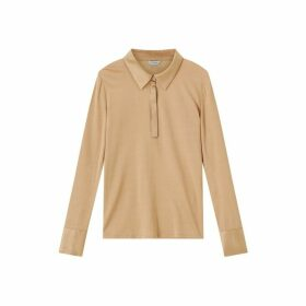 Jigsaw Silk Trim Jersey Shirt