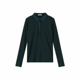 Jigsaw Silk Collar Jersey Shirt