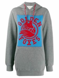 Golden Goose Golden foxes print hoodie - Grey