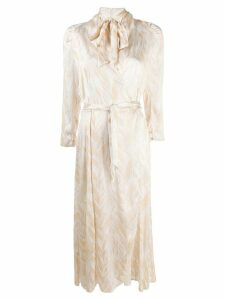 Forte Forte all-over pattern dress - NEUTRALS