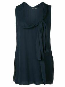 Oscar de la Renta cowl-neck blouse - Blue