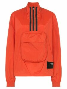 Y-3 logo pullover jacket - ORANGE