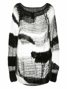 Ann Demeulemeester whispery hand knitted sweater - Black