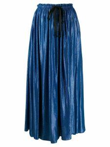 Forte Forte elasticated waistband maxi skirt - Blue