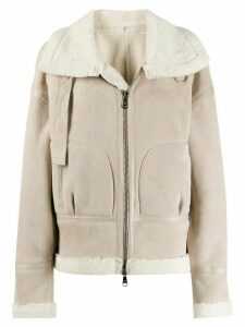 Giorgio Brato shearling trimmed jacket - NEUTRALS