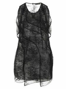 Oscar de la Renta embroidered lace blouse - Black